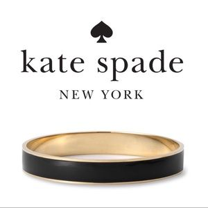 Kate Spade   Black Enamel & Gold Bangle Bracelet